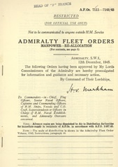 Admiralty Fleet Orders 1945 - 7111-7145