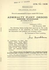 Admiralty Fleet Orders 1945 - 7111-7145