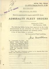Admiralty Fleet Orders 1945 - 7146-7252