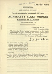 Admiralty Fleet Orders 1945 - 7253-7318