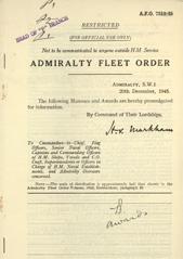 Admiralty Fleet Orders 1945 - 7319