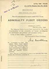 Admiralty Fleet Orders 1945 - 7502-7612