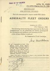 Admiralty Fleet Orders 1944 - 781-914