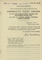 Admiralty Fleet Orders 1943 - 885-886
