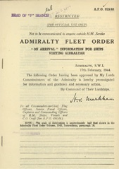 Admiralty Fleet Orders 1944 - 915