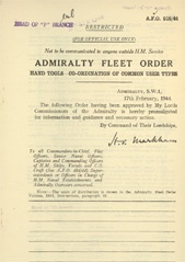Admiralty Fleet Orders 1944 - 916