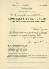 Admiralty Fleet Orders 1944 - 917