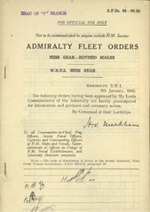 Admiralty Fleet Orders 1942 - 94-95