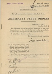 Admiralty Fleet Orders 1942 - 972-1088