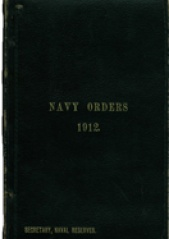 Cover image of the Commonwealth Naval Orders from 1912