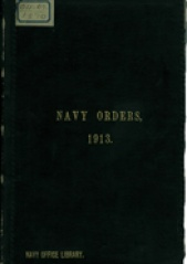 Cover image of the Commonwealth Naval Orders from 1913