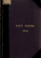Cover image of the Commonwealth Naval Orders from 1916