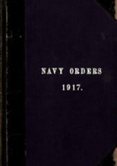 Cover image of the Commonwealth Naval Orders from 1917