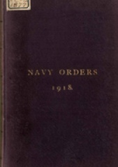 Cover image of the Commonwealth Naval Orders from 1918