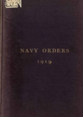Cover image of the Commonwealth Naval Orders from 1919