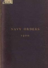 Cover image of the Commonwealth Naval Orders from 1920