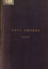 Cover image of the Commonwealth Naval Orders from 1922