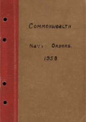 Cover image of the Commonwealth Naval Orders from 1958