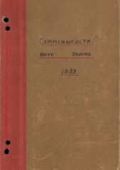 Cover image of the Commonwealth Naval Orders from 1959
