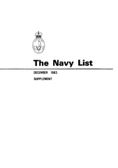 Navy List for December 1983