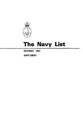 Navy List for December 1983