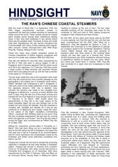 Hindsight Issue 2 - The RAN's Chinese Coastal Steamers.