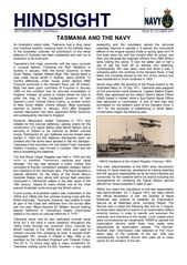 Hindsight Issue 5 - Tasmania and the Navy.