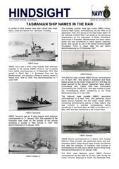 Hindsight Issue 6 - Tasmanian ship names in the RAN.