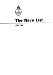 Navy List for June 1982
