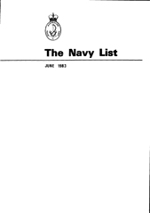 Navy List for June 1983