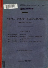 Naval Staff Monographs Vol I
