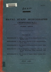 Naval Staff Monographs Vol III