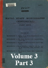 Naval Staff Monographs Vol III part 3