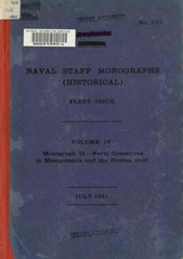 Naval Staff Monographs Vol IV