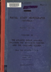 Naval Staff Monographs Vol IX