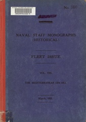 Naval Staff Monographs Vol VIII