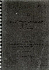 Naval Staff Monographs Vol VII