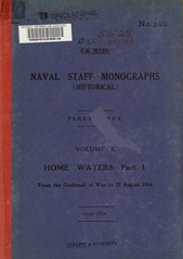 Naval Staff Monographs Vol X