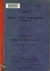 Naval Staff Monographs Vol XIII