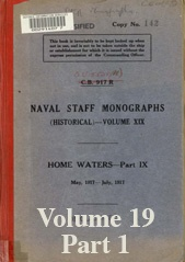 Naval Staff Monographs Vol XIX part 1