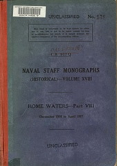 Naval Staff Monographs Vol XVIII