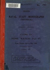 Naval Staff Monographs Vol XV