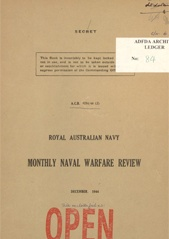 Royal Australian Navy Monthly Naval Warfare Review - December 1944