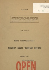 Royal Australian Navy Monthly Naval Warfare Review - February 1945