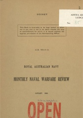 Royal Australian Navy Monthly Naval Warfare Review - January 1945