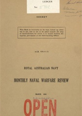 Royal Australian Navy Monthly Naval Warfare Review - March 1945