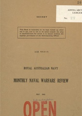 Royal Australian Navy Monthly Naval Warfare Review - May 1945