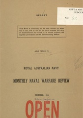 Royal Australian Navy Monthly Naval Warfare Review - November 1944