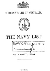 Navy List for April 1914