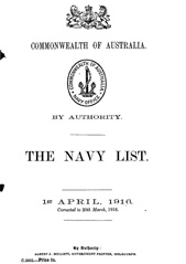 Navy List for April 1916